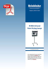 Brinklake IR-B02 Twin Infrared Paint Drying Lamps information PDF