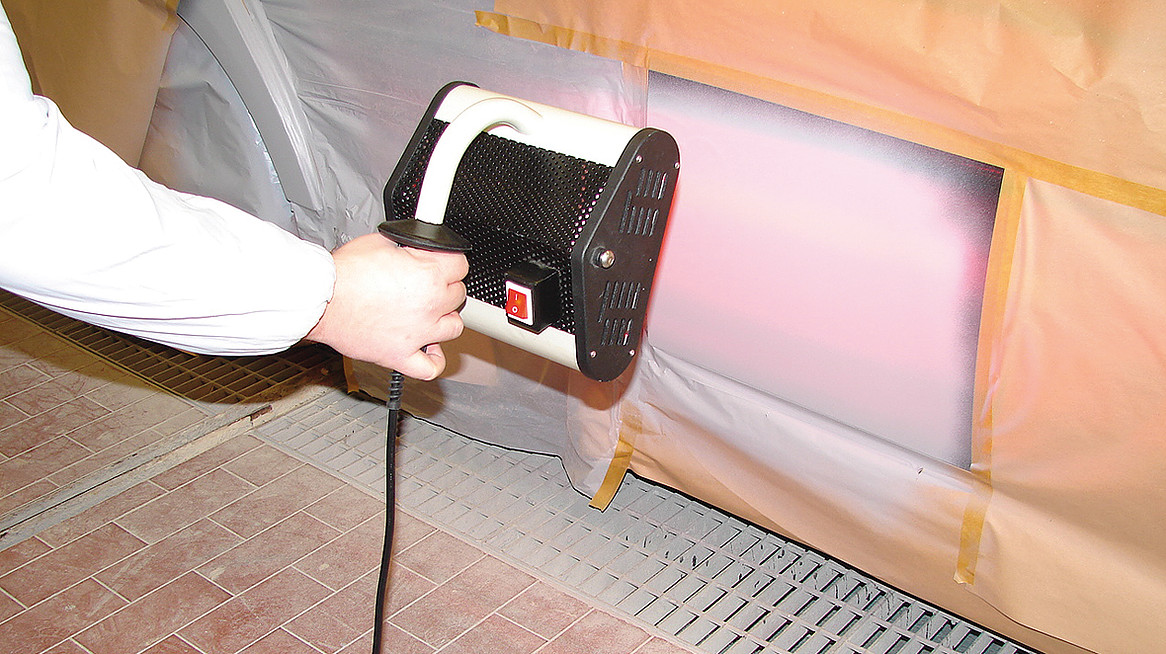 Infrared Paint Dryer In Use (2)